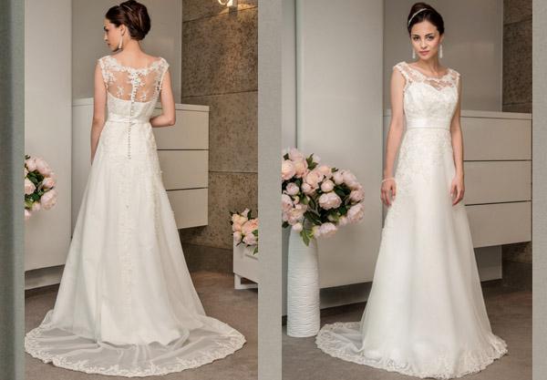 Suknia ślubna literka A