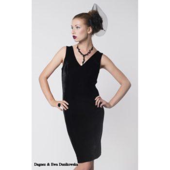 Sukienka wieczorowa Dagnez aksamitka czarna krotka